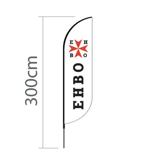 Beachflag Convex S - 60x240cm - EHBO