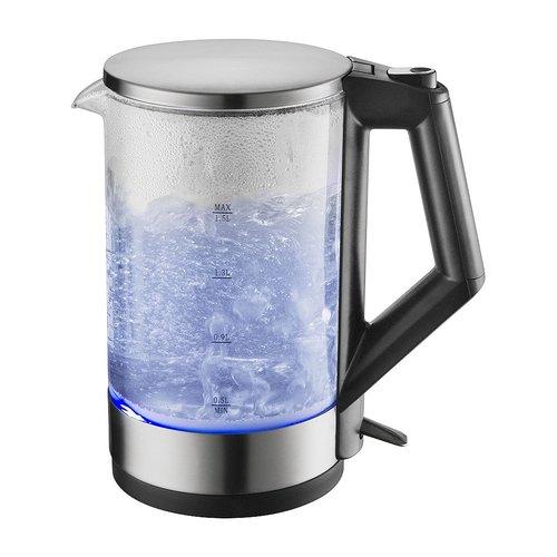 B-Deal Glazen Waterkoker met Blauw LED-verlichting 1.5 Liter