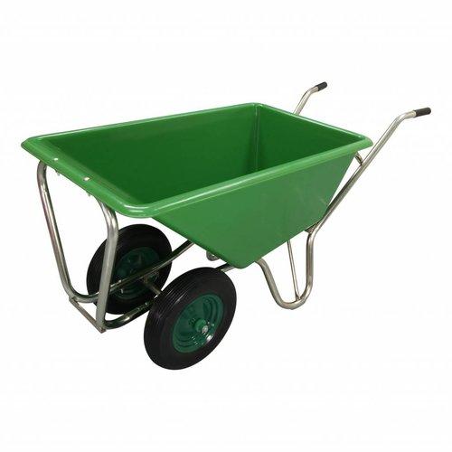 Kruiwagen Forza Groen 160 liter Met Dubbel Antilek Wiel