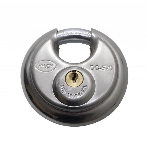 Discus Hangslot Gelijksluitend Roestvaststaal 5 pins 70mm