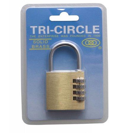 Tri-Circle Cijferslot Messing 40mm