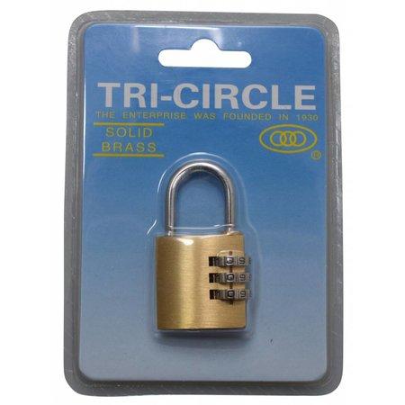 Tri-Circle Cijfersloten Messing 30mm