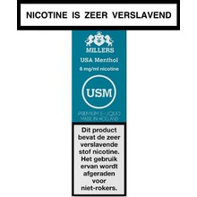 Millers Juice Silverline USA Menthol