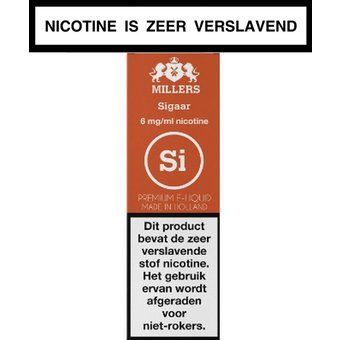 Millers Juice Silverline sigaar e-liquid