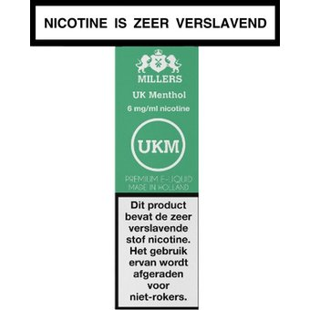 Millers Juice Silverline UK Menthol e-liquid