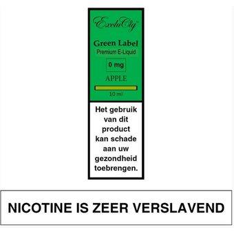 ExcluCig Green Label Apple e-liquid
