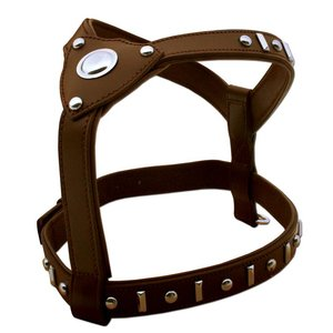 Doxtasy Dog Harness Knight Brown & Silver
