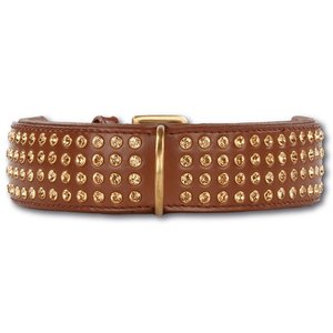Doxtasy Dog Collar Swarovski Extreme Brown 45mm