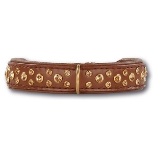 Doxtasy Dog Collar Swarovski Extreme Brown 20mm