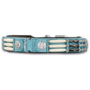 Doxtasy Dog Collar Baby Blue Eagle 25mm
