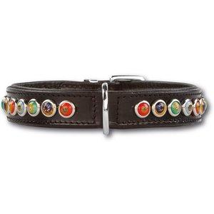 Doxtasy Dog Collar Silly Stones Black 25mm