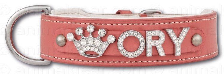 Afbeelding Hondenhalsband met naam Medium Pink door Petsonline