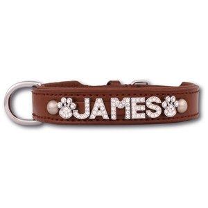 Doxtasy Hondenhalsband met naam Large Brown