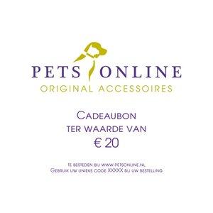 Petsonline Cadeaubon 20 euro