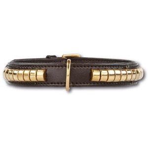 Doxtasy Dog Collar Gold Row black