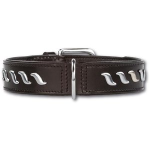Doxtasy Dog Collar Silver Wave