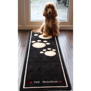 Pet Rebellion Droogloopmat Dog Runner zwart