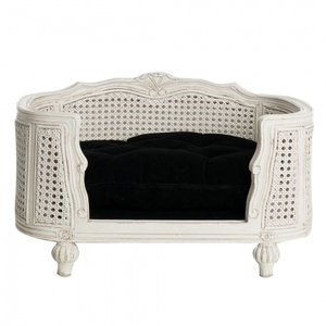 Lord Lou Dog Bed Arthur Black Velvet White Frame