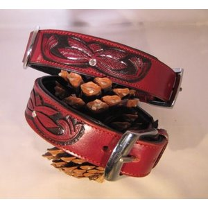 Heim Dog Collar Savannah Burgundy