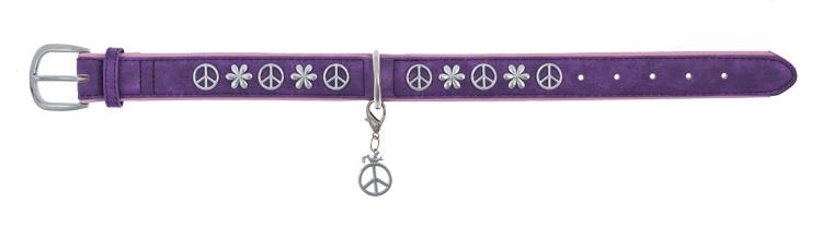 Hondenhalsband Peace Paars