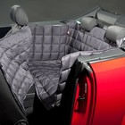 Doctor Bark Dog blanket for the back seat for two-door car Grey