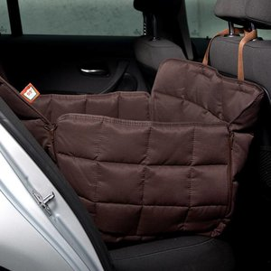 Doctor Bark Dog blanket for the back seat - one seat Brown