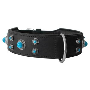 Doxtasy Dog Collar Antique Turquoise Extra Wide
