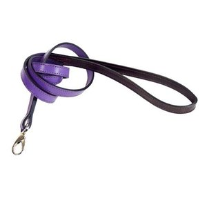 Hartman and Rose Dog Leash Hartman nickel fittings Grape