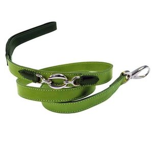 Hartman and Rose Dog Leash Hartman nickel fittings Lime Green