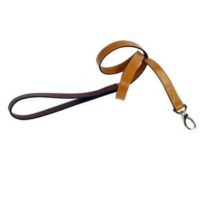 Hartman and Rose Dog Leash Hartman nickel fittings Tan