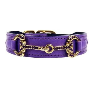 Hartman and Rose Dog Collar Horse & Hound Lavender