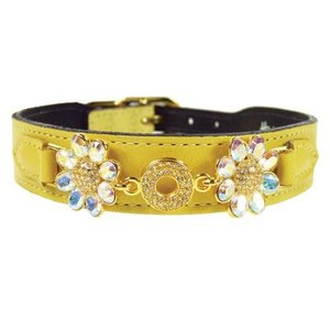 Hartman and Rose Dog Collar Daisy Canary Yellow
