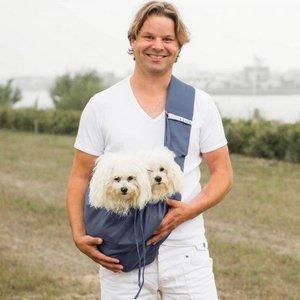 4LazyLegs Dog Canvas Bag Blue Gray
