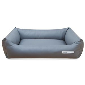 Dogsfavorite Dog Bed Leatherette Light Grey