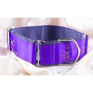 Petsonline Martingale Collar Brocade Purple Queen