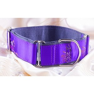 Petsonline Martingale Hondenhalsband Brokaat Purple Queen