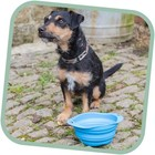 Beco Pets Drinkbak of voerbak Travel Bowl Blauw