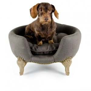 Lord Lou Dog Bed Antoinette Charcoal Brown