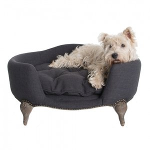Lord Lou Dog Bed Antoinette Anthracite Grey
