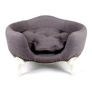 Lord Lou Dog Bed Antoinette Burlap Grey