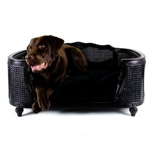 Lord Lou Dog Bed Arthur Black Velvet