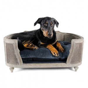 Lord Lou Dog Bed Arthur Royal Blue Velvet