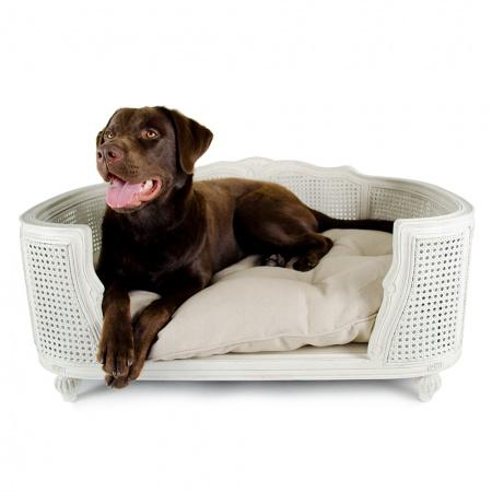 Hondenmand Arthur Linen Ecru