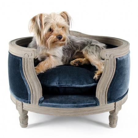 Hondenmand George Royal Blue Velvet