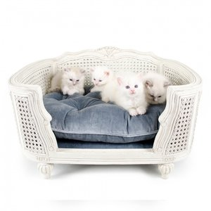 Lord Lou Cat Bed Arthur Silver Grey Velvet