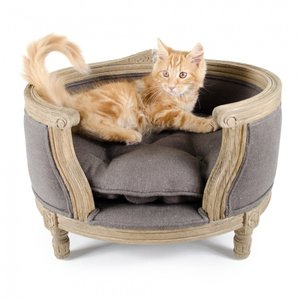 Lord Lou Cat Bed George Charcoal Brown