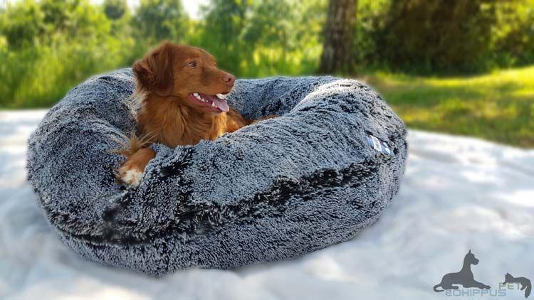 Bessie And Barnie Dog Bagel Bed Midnight Frost