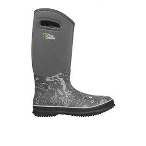 TwoTracks Ladies Boots Viola High Grey
