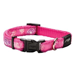 Rogz Dog Collar Pink Paw