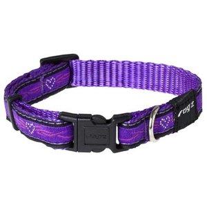 Rogz Hondenhalsband Purple Chrome